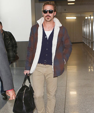 No-Shave November? Ryan Gosling Sports a Major Mustache at the Airport