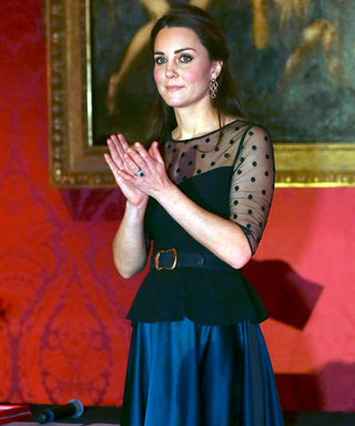Kate Middleton Flaunts Her Royal Baby Bump in a Sheer Peplum Top