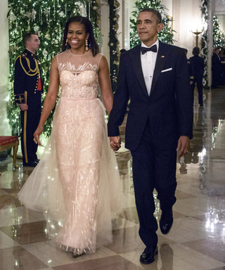 Michelle Obama Channels Frozen in a Dazzling Monique Lhuillier Gown at the Kennedy Center Honors