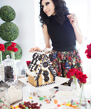 InStyle Decorates a Gingerbread House with Alice + Olivia's Stacey Bendet—Plus, Her Expert Decorating Tips!