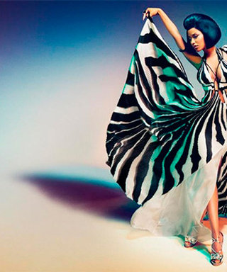 Nicki Minaj Cuts a Chic Figure as the New Face of Roberto Cavalli