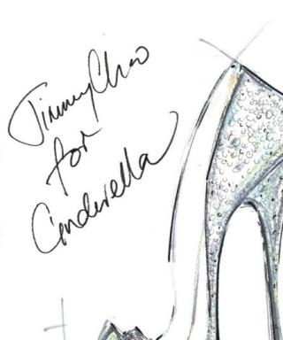 Jimmy Choo Cinderella's glass slipper