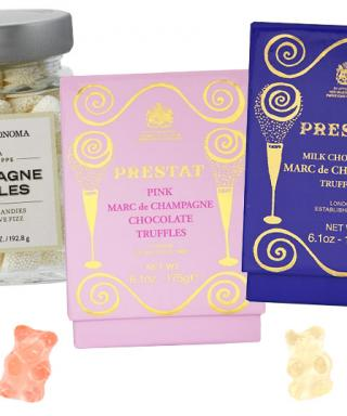 Champagne flavored sweets from Prestat, Williams Sonoma