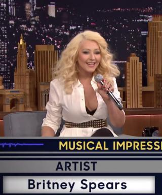 Christina Aguilera Britney Spears Impression Tonight Show