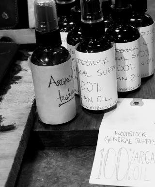Argan oil at Woodstock General Supply