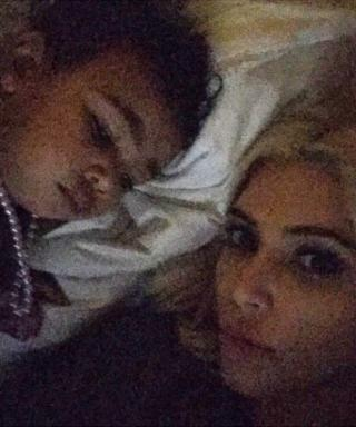 North West Wears Pearls to Sleep