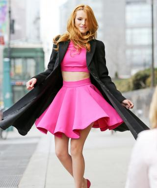 Bella Thorne in Hot Pink