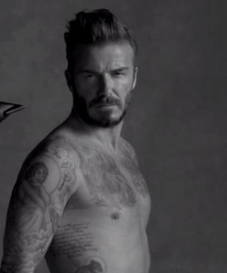 David Beckham James Corden underwear