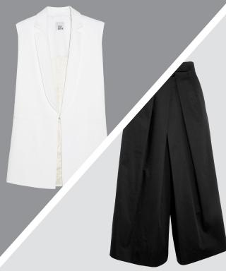 Perfect Pairing: Crisp White Waistcoats + Black Culottes