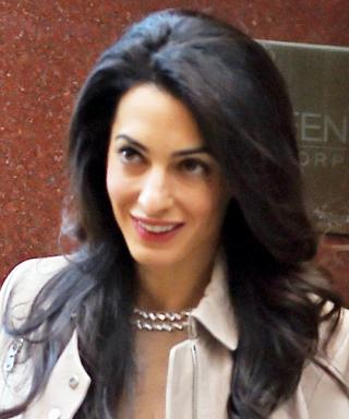 Amal Clooney Smartens Up a Pair of Distressed Jeans