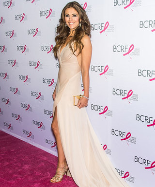 Elizabeth Hurley Wore a Gown with an Endless Train to the BCRF Hot Pink Party