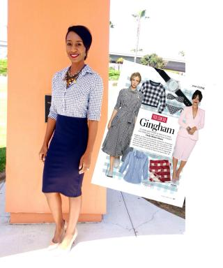#InspiredByInStyle: Reader of the Week Natari Spencer on How to Wear Gingham Prints