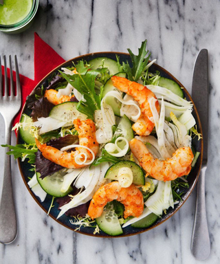 This Shrimp, Fennel, and Celery Salad with Green Goddess Dressing Recipe is the Perfect Summer Dish
