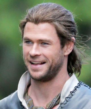 This Photo of Chris Hemsworth on the Set of The Huntsman Will Make Your Day