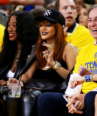 Rihanna Goes Glam Courtside at Game 1 of the NBA Finals