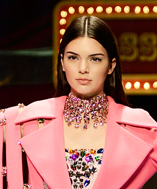 Kendall Jenner Walks the Dosso Dossi Runway Show in a Wild Pink Outfit