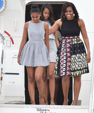 Next Stop: Italy—Michelle Obama Arrives in Milan Wearing Yet Another Stylish Look