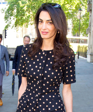 Amal Clooney Wears Two Perfectly Patterned Looks in London