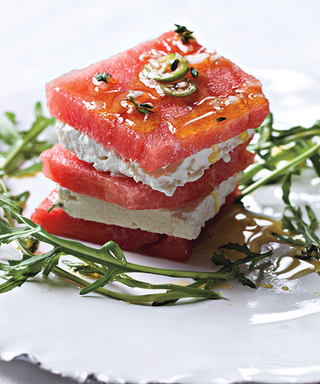 """Make This """"Hot and Sweet"""" Watermelon Feta Salad Recipe From Top Chef Judge Hugh Acheson"""