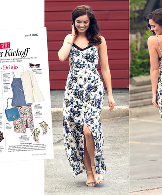 #InspiredByInStyle: Reader of the Week Marie Ernst's Printed Maxi is Perfect for Date Night