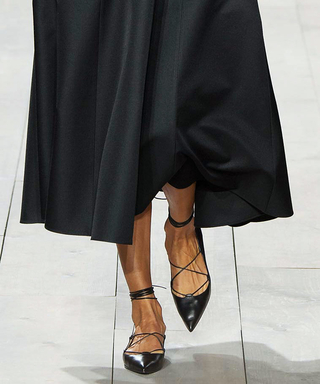 There's a Reason We Love Lace-Up Pointy Toe Flats So Much This Summer