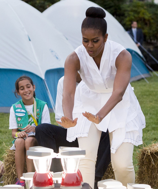 Michelle Obama Just Hosted the Coolest Girl Scout Campout Ever