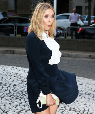 Elizabeth Olsen Teaches Us How to Handle a Wardrobe Malfunction Like a Pro