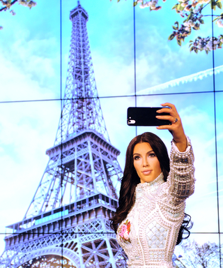 Kim Kardashian's New Wax Figure Poses for a Selfie