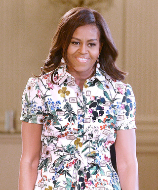 Michelle Obama Dons a Pretty Floral Frock for the 2015 Kids' State Dinner