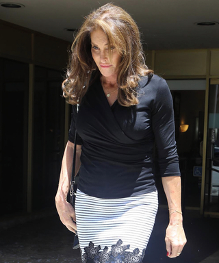 Caitlyn Jenner Looks Chic in a Striped Miniskirt for Lunch with Daughter Kendall