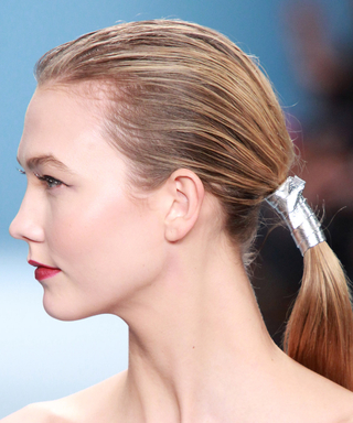 Give Your Basic Ponytail an Instant Upgrade with a Chic Leather Wrap