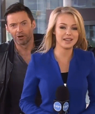 Hugh Jackman Delightfully Surprises a Reporter with an On-Air Photobomb