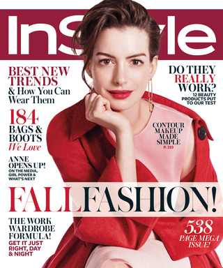 Go Behind the Scenes of Anne Hathaway's September Cover Shoot for InStyle