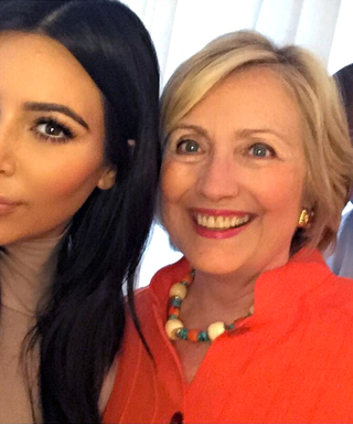 Kim Kardashian and Kanye West Get the Ultimate Selfie with Hillary Clinton