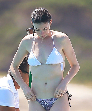 Anne Hathaway Shows Off Her Toned Physique in Two Chic Swimsuits in Ibiza