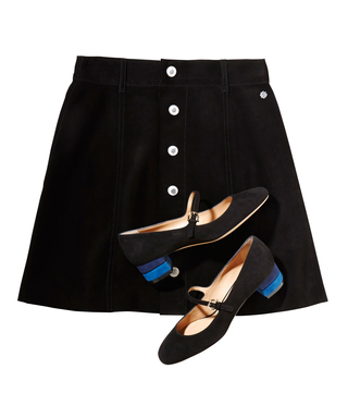 Why a Mod Mini Skirt and Mary Janes Will Be Your Go-To Fall Outfit