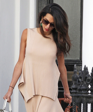 Amal Clooney Looks Utterly Cool in a Breezy Two-Piece Ensemble