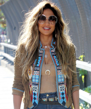 Jennifer Lopez Nails the '70s Trend While Filming Her New Music Video