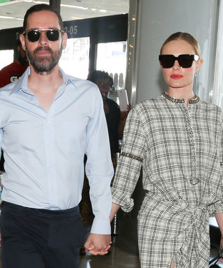 Kate Bosworth Looks Perfectly Polished in a Plaid Shirtdress at the Airport