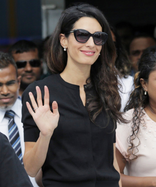 Amal Clooney Wears White on Labor Day