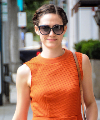 Emmy Rossum Happily Flashes Her New Engagement Ring