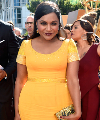 Our Favorite Accessory at the Emmys? Mindy Kaling's Personalized Sparkly Clutch
