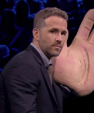 WatchRyan Reynolds Get Slapped with a Giant Fake Hand in This Tonight Show Game