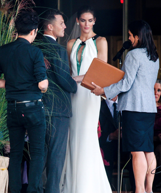 Hilary Rhoda Marries Sean Avery in an Unconventional Wedding Dress