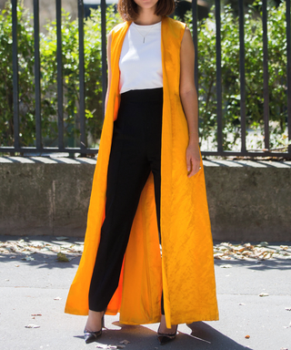 Street Style - Paris Fashion Week : Haute Couture Fall/Winter 2015/2016 : Day Two