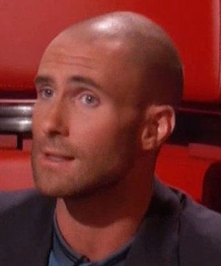 Adam Levine's Shaved Head Makes Its TV Debut on The Voice