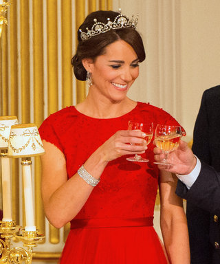Kate Middleton Dazzles in a Red Gown and Tiara at Her First State Banquet