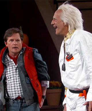 Watch Michael J. Fox Go Back to the Future to Greet Jimmy Kimmel in 2015