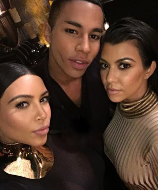 Kardashians Celebrate Balmain Designer Olivier Rousteing's Birthday With an Instagram Splash