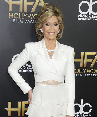 Jane Fonda Shows Off Her Toned Midriff at the Hollywood Film Awards